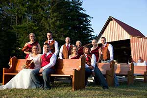 The Orchard Barn from the pasture, Rustic Event and Barn Wedding