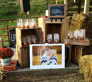 Favors at the orchard barn